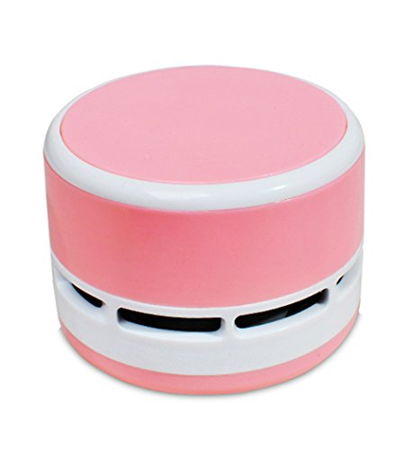 Hillento Mini Vacuum Cleaner, Portable Handheld Corless Tabletop Crumb Sweeper Desktop Multifunction Cleaning for Home Office Keyboard and Car, Pink