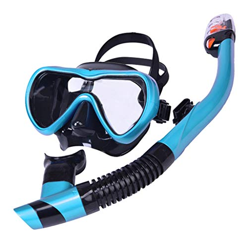 Moent Schnorchel-Set Schnorchelausrüstung Silikon-Tauchschnorchelbrillen-Set Unisex Deep Diving Mask zweiteiliges Schnorchel-Set