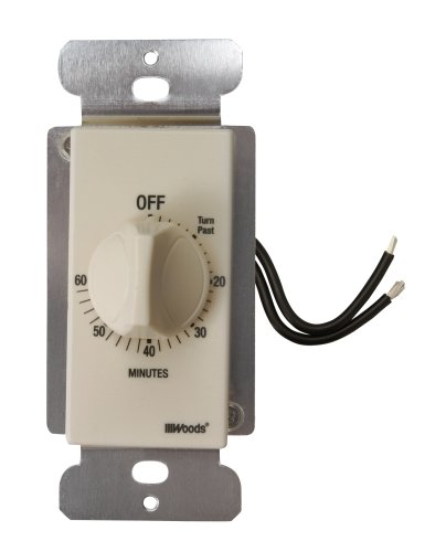 Woods 59718 In-Wall 60 Minute Spring Wound Timer, Light...