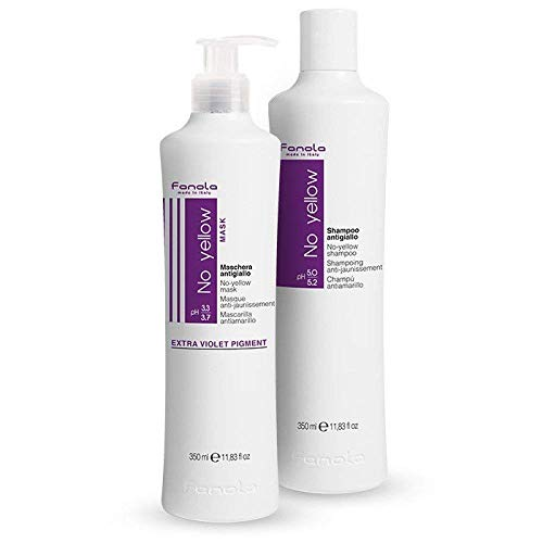 Fanola Anti-gelb Haarschampoo plus anti-gelb Haarmaske, 2X 350ml