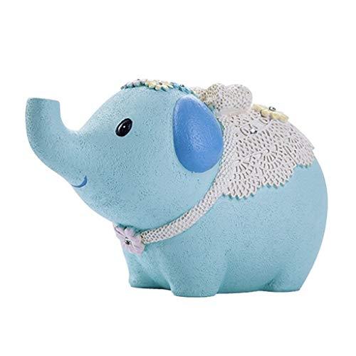 ZXJTX Hucha Regalo Hucha Único bebé Elefante del Dinero de Banco único Resina Hucha de Dinero de Banco for los niños Frescos y Adultos Bancos de Dinero