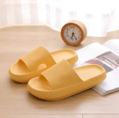 Classic Flip Flop Household Bathroom Thick-End Slippers windder Wear Cold Slippers-Blue_3/3.5 Slide Open Toe Sandals