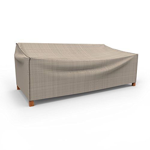 Budge P3A02PM1 English Garden Patio Sofa Cover Heavy Duty and Waterproof, Extra Extra Large, Two-Tone Tan