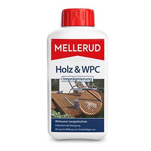 MELLERUD Holz & WPC Imprägnierung – Wirksamer Langzeitschutz von Holz-, WPC- und BPC-Flächen im Außenbereich – 1 x 0,5 l