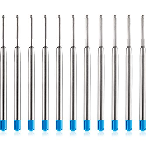 30 Packungen Austauschbare Kugelschreiber Minen Metall Kugelschreiber Tinte Glatte Schreiben Kugelschreiber Nachfüllungen (Blau)