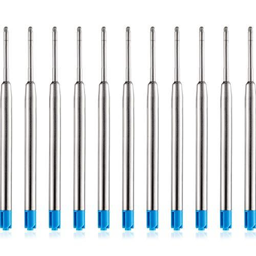 30 Piezas de Recambio de Bolígrafos de Bola Reemplazable Relleno de Metal de Pluma Recambios de Bolígrafos de Punta de Boda de Escritura (Azul)