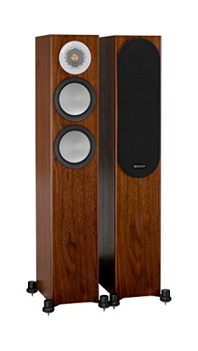 Best Review Of Monitor Audio Silver 200 Floorstanding Speaker Walnut Pair