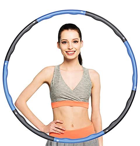 KOVEBBLE Hula Reifen Hoop Erwachsene, Gewichteter Übung Reifen 1.2kg, Hulla Hoop Fitness Reifen Kinder,Hula Fitnesskreis zum Abnehmen Hula Übung Gym Workout