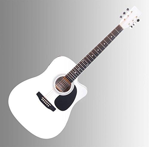 bester der welt Cantabile WS-10WH-CE Westliche klassische Gitarre mit Tonabnehmern (akustisch und verstärkt, Dreadnought,… 2021