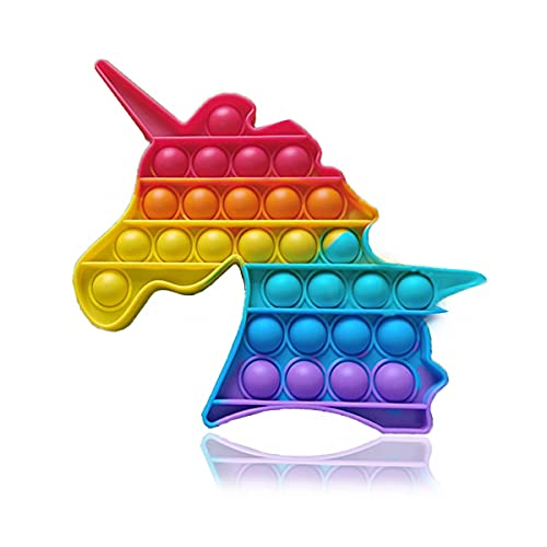 WizDax Pop it Fidget Toys, fidjetoys Toy Anti Stress, popit Jeux Pas Cher, Multicolore popite fijets Toys entistesses Objet satisfaisant, poppit figette, Anti Stress (Unicorn Horse)