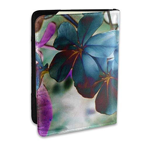 SXboxing – Funda de piel para pasaporte, portafolios de viaje para mujeres y hombres, diseño floral…