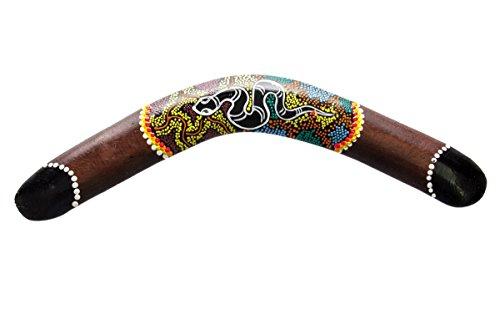 Ciffre 40cm Bumerang Bummerang Boomerang Deko Schlange Fair Trade Handbemalt Australien