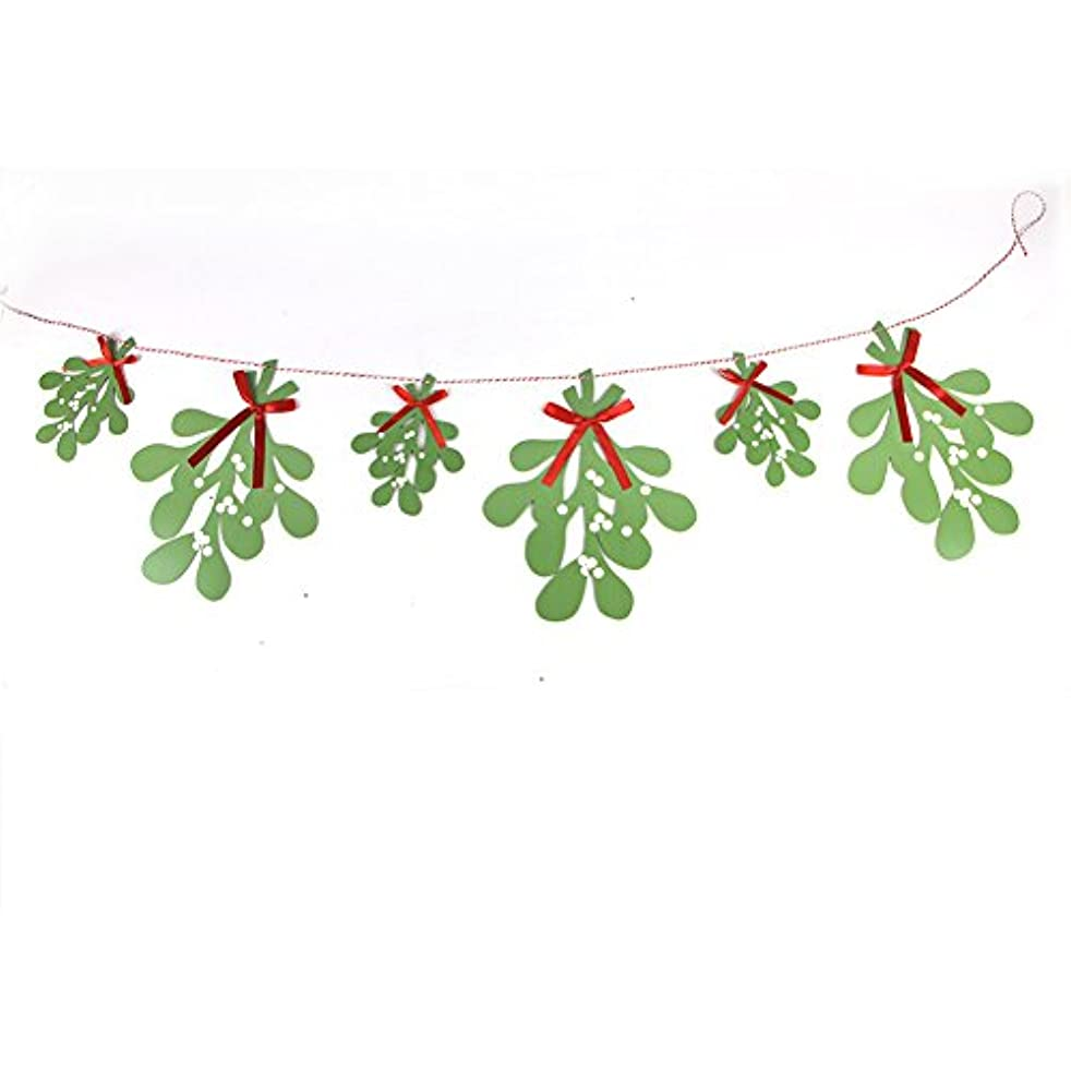 PAPER JAZZ mistletoe garland hanging decoration for christmas party home decoration