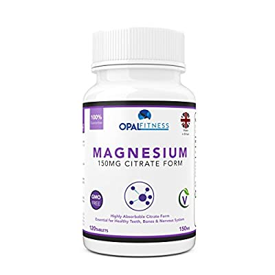 Magnesium Citrate Tablets   300mg High Absorption Formula   Supplement for Healthy Teeth, Bones, Nervous System and Athletic Performance   120 Tablets   OSHUNhealth   Limited Time Introductory Offer by OSHUNgroup