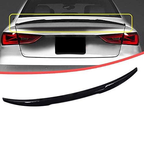 YUMTOL Trunk Lid Spoiler Wing Abs Glossy Black Suitcase Spoiler Wing Lid Decor Fit For Audi A3 And S3 Sedan V Type 2014 2015 2016 2017 2018 Highkick Lip Spoiler Stripes