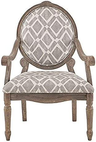 Best Madison Park Brentwood Accent Chairs-Birch Hardwood, Hand Carved Scroll Design Living Armchair Moder