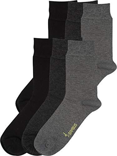 RS. Harmony | Socken & Strümpfe | Bambus Super Weich Atmungsaktiv | 6 Paar | schwarz, anthrazit, silber | 39-42