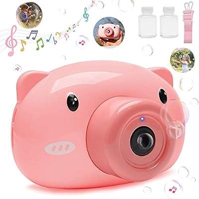 Amazon - Save 60.0%: SS Bubble Machine Camera, Portable Bubble Maker for Kids Bubble Blower Machi…