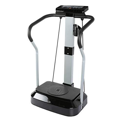 Sfeomi Plataforma Vibratoria con Capacidad de 120kg Plataforma Vibratoria de Fitness con Bandas 2000W Fitness Plate Vibration 99 Niveles de Velocidad para Ejercicios Musculares (2000W)