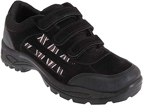 Dek Herren Ascend Trekking-Schuhe/Wanderschuhe/Wanderstiefel mit Klettverschluss (12 UK/47 EU) (Schwarz)