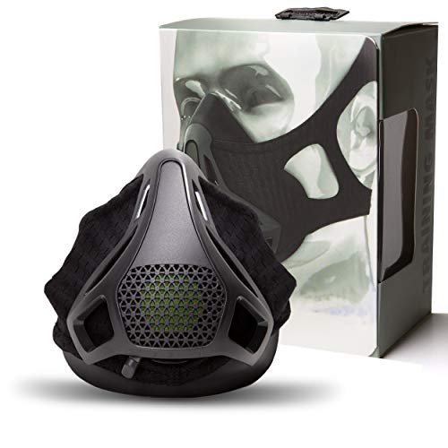 Sport Workout Training Altitude Mask - for Strength & Agility Workout Mask - High Altitude Elevation Simulation - for Running, Cycling, Cardio, Fitness, Endurance Training - Hypoxic Resistance Mask
