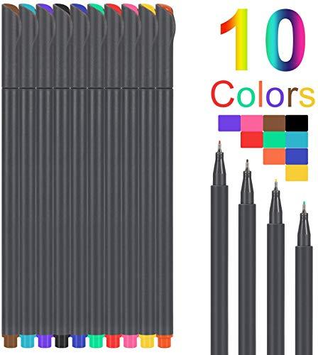 Artfan Penne a colori Fineliner 10 colori - Pennarelli colorati Fineliner - Pennarelli da colorare - Pennarelli