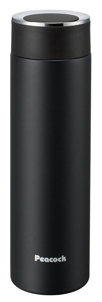 ピーコック 水筒 ステンレスボトル マグボトル マットブラック 500ml AMM-50 BD