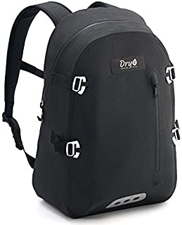 100% Waterproof Backpack with Airtight Zipper - Eco Friendly & PVC Free - Removable Multi Pocket Padded Sleeve - Guaranteed Protection for Laptop, Tablet, DSLR from Water Rain and Dust