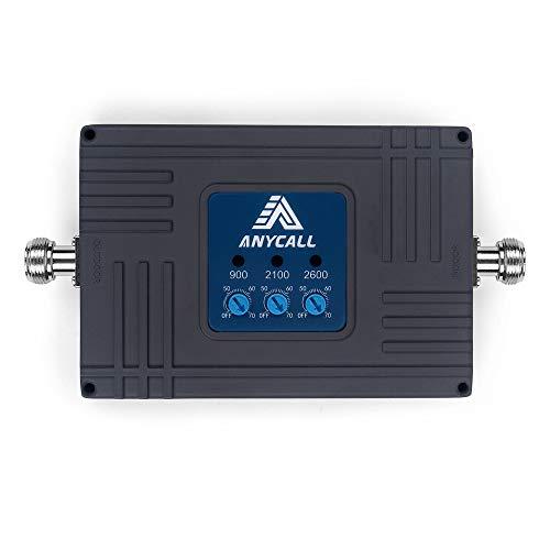 ANYCALL Amplificador Cobertura Movil 2G/3G/4G Tri-Banda Repetidor Señal Movil Mejorar la Red...