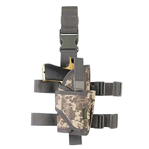Tactical Leg Holster-Gun Holster Drop Leg Adjustable Right Handed Thigh Pistol Holster Harness W/Magazine Pouch(XL)