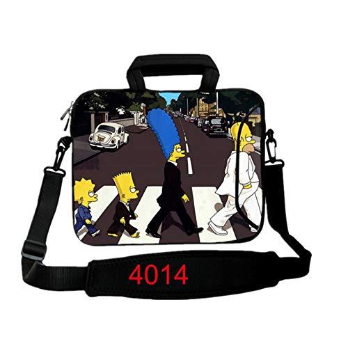 9.7 10.1 11.6 12.1 13.3 14.1 15.4 15.6 17.3 17.4Laptop Shoulder Bag Tablet Sleeve PC Case For Macbook HP Asus Acer HP Lenovo (Color : 4014, Size : 17 inch)
