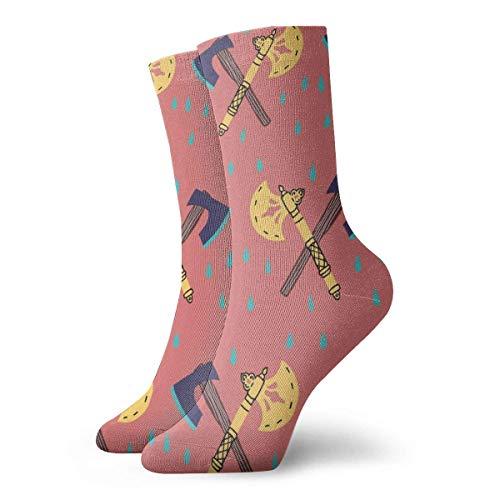 BEDKKJY gouden blauwe bijl patroon volwassen korte sokken katoen klassieke sokken voor mannen Womens Yoga wandelen fietsen hardlopen voetbal sport