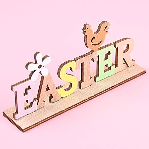 N/A Home For Oster-Briefständer aus Holz für Party, Ornament, Zuhause, Schaufensterdekoration, Ostern