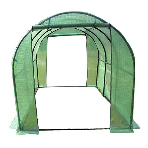 Green Large Greenhouse Tunnel Tent, Walk-in Heavy Duty Green Gardening Plant Hot Outdoor House with 2 Doors, 200cm/300cm Long (Size : 300x200x200cm)