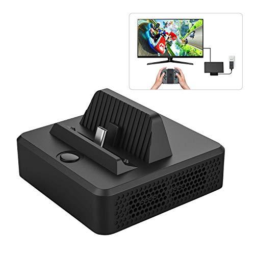 Preisvergleich Produktbild MoKo Kompatibel mit Nintendo Switch Dock Type-C zu HDMI Adapter TV Dock mit USB Port, Tragbar Docking Station Ladestation für Switch