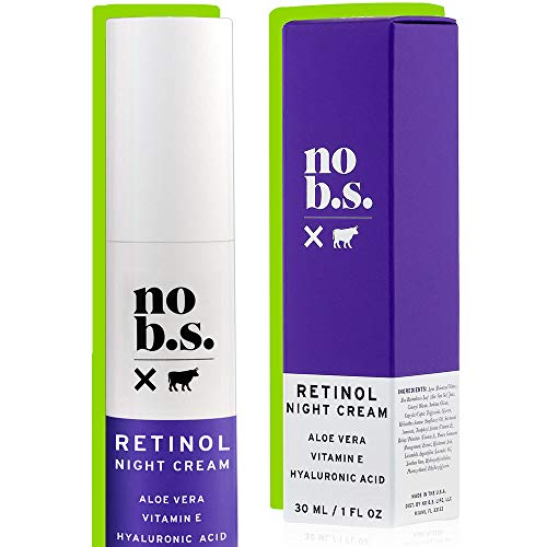 No B.S.Retinol Cream for Face with Hyaluronic Acid and Vitamin E, Retinol Night Cream for Spot Treatment, Vegan Wrinkle Cream and Spots Corrector for Face - No B.S. Skin Care