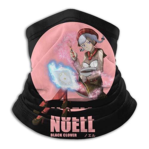 AmyNovelty Scarf Headband,Anime Black Clover Noell Diadema, Poliéster Polaina Pasamontañas para Gym Running,26x30cm