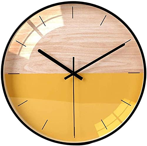 LXDZXY Escala Libre Silent Wall Reloj Excelente Función de Barrido de precisión Moderna Reloj de Pared Redondo para Sala de Estar Dormitorio