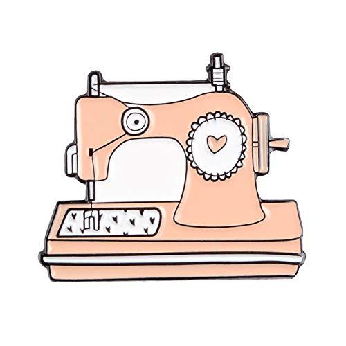 KingbeefLIU Dibujos Animados Unisex Máquina De Coser En Forma De Esmalte Broche Pin Artesanía DIY Insignia Regalo Elegante Vintage Broche Regalo De Joyería XZ2267