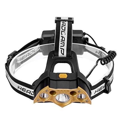 Casual koplampen, USB-oplaadbare 3 leds met hoge helderheid buitenshuis, kamperende waterdichte rijkoplampen, lichaam.
