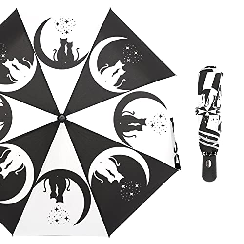 Paraguas Paraguas Lluvia Mujeres protección Solar Anti UV Automático 3 Paraguas Plegables parapluie (Color : Black)