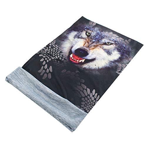 TRIXES Wolf Animal Design - Écharpe en tube avec bandana Balaclava - - Tête multifonctionnelle - Parfait pour les sports motorisés - Polyester extensible - Unisex - Taille unique