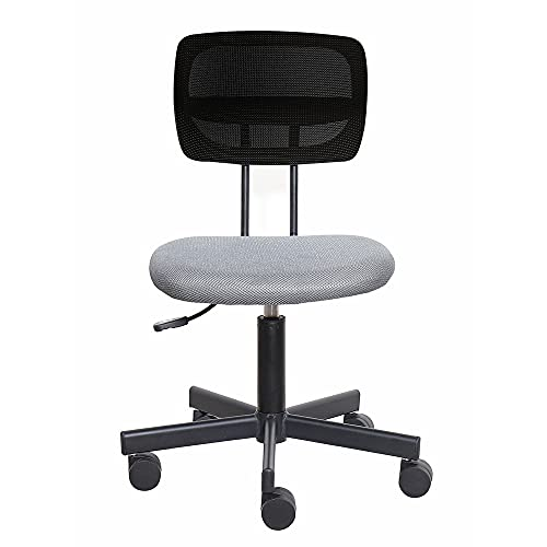 SpecStandard 858-B Flexible Series Office Chair Working Window Consulting Secretary Height Adjustable Breathable Soft Seat Pad Dazzling Grey, 3D Black Mesh Back, 55㎝W×52㎝D×90㎝H-97㎝H