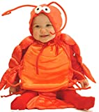 Mullins Square Lobster Baby Costume, Red, 6-18 Months