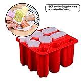 Volwco Ice Lolly Moldes de silicona para paletas de helado, juego de moldes de helado, aprobado por...