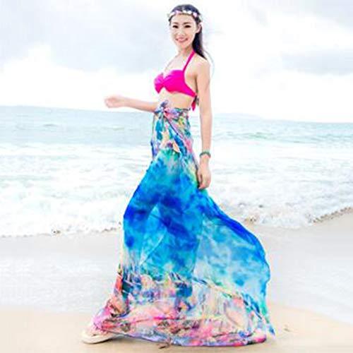 SXZHSM Beach Sjaal Chiffon Dames Mode Zacht en Comfortabel Licht Anti-UV Super Grote Zand Handdoek Sjaal Voor Vakantie Reizen Lente En Zomer 200 * 140CM sjaal