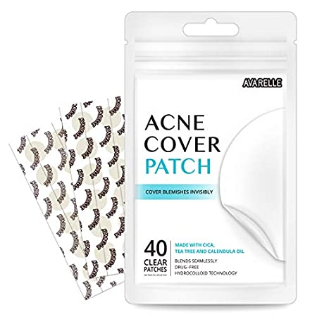 Acne treatment products Avarelle Acne Pimple Patch (40 Count) Absorbing Hydrocolloid Spot Treatment with