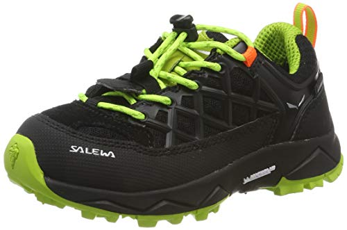 Salewa Unisex-Kinder JR Wildfire Waterproof Trekking- & Wanderhalbschuhe, Black Out/Cactus, 37 EU