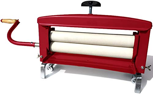 "Calliger 360 | Hand Crank Clothes Wringer | New Patented Clamping System | 14"" Rollers 