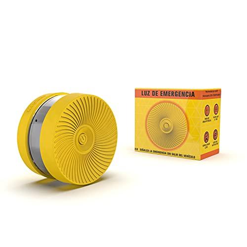 iWotto E light - Luz Emergencia Coche - Señal V16 Luz Emergencia intensa, Accesorio de Coche Baliza Emergencia homologada y autorizada por DGT (Amarillo)